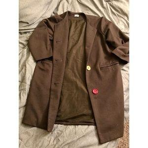 Mya Vintage Wool Coat 3/4 Sleeves